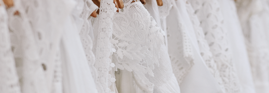 Rack of white clothes