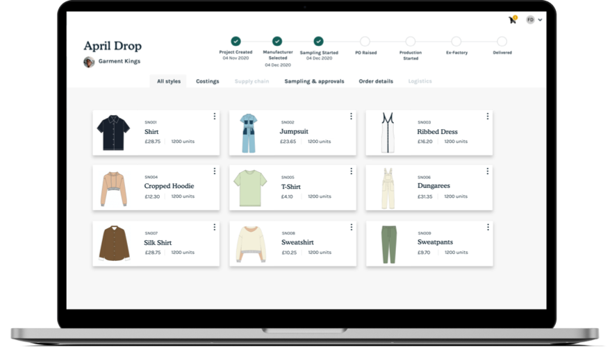 The SupplyCompass Production Platform for Fashion Brands